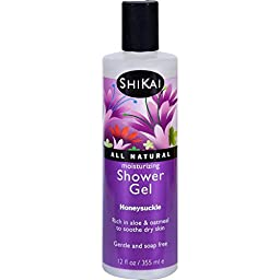 Shikai - Daily Moisturizing Shower Gel, Rich in Aloe Vera & Oatmeal to Leave Skin Noticeably Healthier (Pomegranate, 12 Ounces)