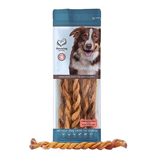 Twisted Chew Sticks - Lamb Bully Sticks and Twists - Premium Dog Chew - All Natural Fresh and Savory Lamb Flavor- (Lamb Bully Twists - 10 Pack - 11 oz)