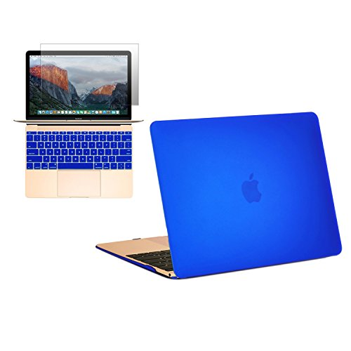 "ROYAL BLUE Crystal Hard Case for New Macbook 12/"" with Retina Display Model A1534"