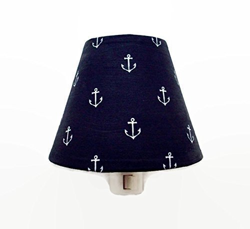 Anchors Nautical Night Light Navy White