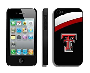 Pretty Gifts Element Apple Iphone 4/4s Case Amazing Design Phone Protective Cover Texas Tech Red Raiders 4