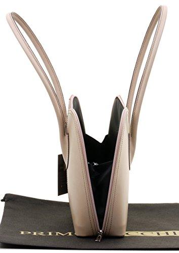 cuir sac main protection style marque un manche sac à de Comprend à à italien rangement long bandoulière de main Sacchi cabas classique ou en sac lisse de fait Primo Beige de Grab fESIqn8wx