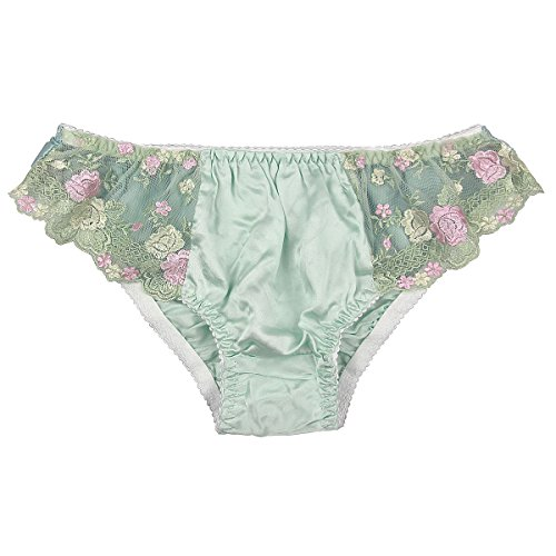 Paradise Silk Pure Silk Lace Panties XX-Large Light Green