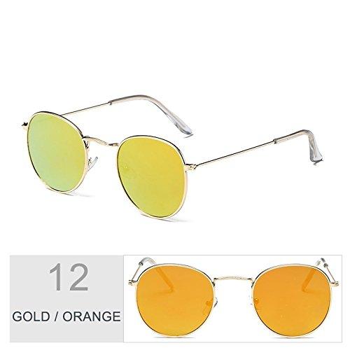 Para Sol Gafas Bastidor Gafas De Unas Hombres De Plata Gold Steampunk TIANLIANG04 Oval Orange Sol Uv400 Metal Enormes Morado Mujeres En Del O6qWPg