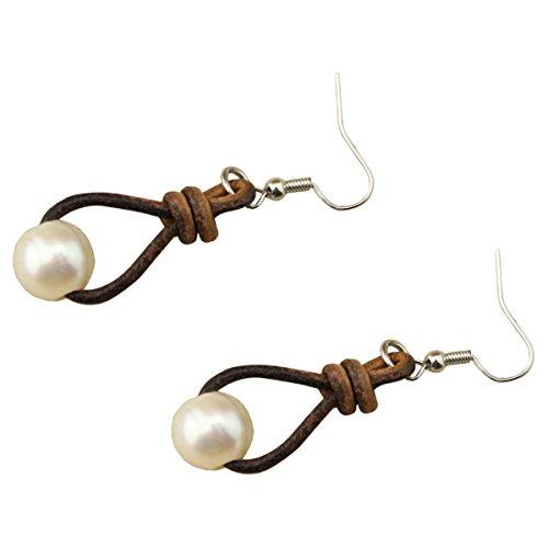 womens-cultured-freshwater-pearl-earring-genuine-leather-drop-pendant-dangle-earrings