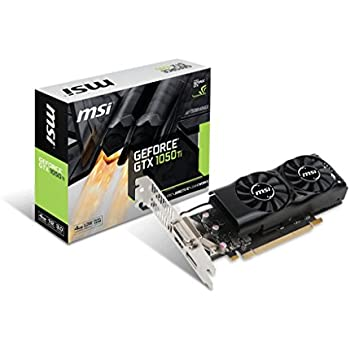 MSI Low Profile Compatible Graphics Cards GeForce GTX 1050 Ti 4GT LP