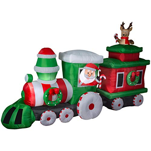 - Airblown Inflatable Santa Train with Caboose, 14 feet