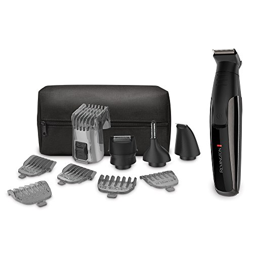 Remington PG6171 The Crafter: Beard Boss Style and Detail Kit, Trimmer, Grooming (11 Pieces) (Cordless Waterproof Hair Trimmer)