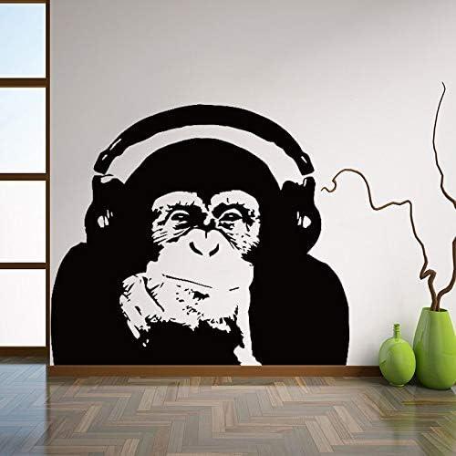 Ajcwhml Pensando Gorila Tatuajes de Pared Arte diseño decoración del hogar Vinilo Mono música Etiqueta de la Pared Dormitorio Arte de la Pared Mural 56X64CM: Amazon.es: Hogar
