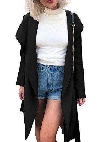 hooded long coats for women - 7