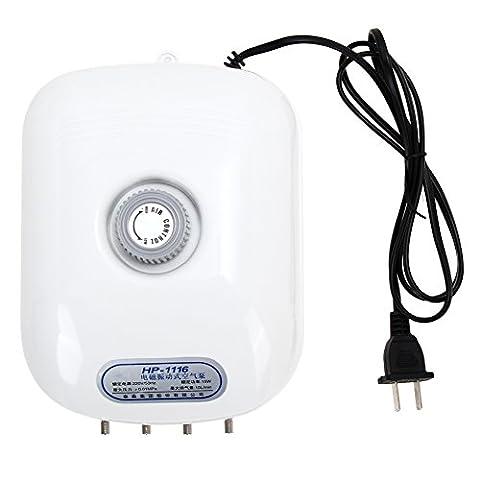 WinnerEco Air Pump 300 Gallon Adjustable Silent Oxygen Pump Large Aquarium Fish Tank 4 outlet - Any Aquarium Air Pump