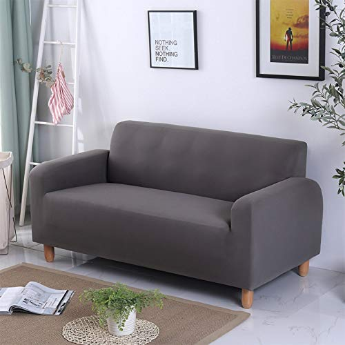 Wingbind Strong Stretch Elastic Slipcovers Machine Washable Sofa Cover Polyester Spandex Furniture Protector (1 Seater)