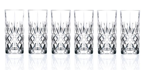 RCR Crystal Melodia Collection High Ball Glass Set (Vintage Water Glasses compare prices)