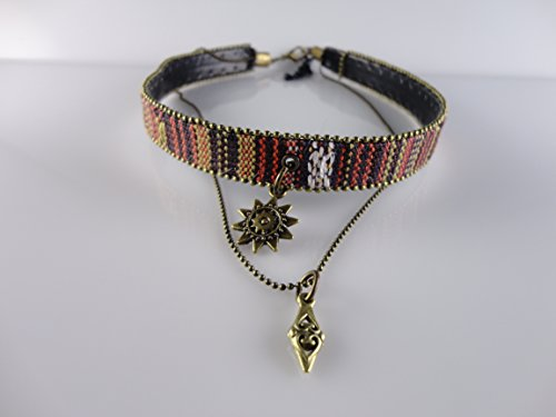Ethnic Star Medallion with Chain Necklace, Fits 12.5'' to 14'' Adjustable by Handmade Studio - Chain Brighton Glasses