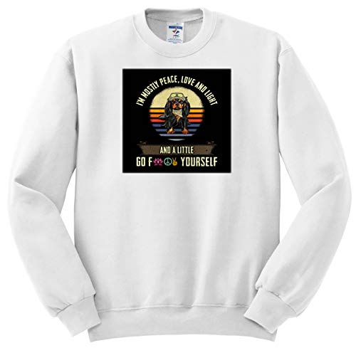 Sven Herkenrath Dog - IAM Mostly Peace Love and Light with Cavalier King Charles Spaniel - Sweatshirts - Youth Sweatshirt Med(10-12) (ss_307467_11)