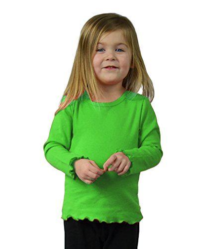 MONAG Lettuce Edge Long Sleeve T-shirt 2Y Lime - Lettuce Edge T-shirt