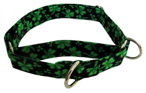 Martingale Collar in Shamrocks (Handmade in the U.S.A.)