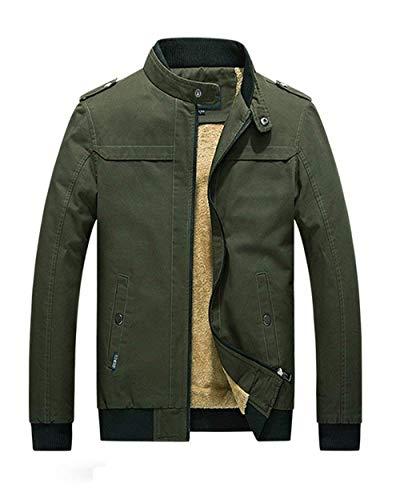 Del Da Addensare Grün Collare Huixin Lunga Capispalla Basamento Abbigliamento Caldo Giacca Invernale Cappotto Manica Parka Uomo x8qHSPT