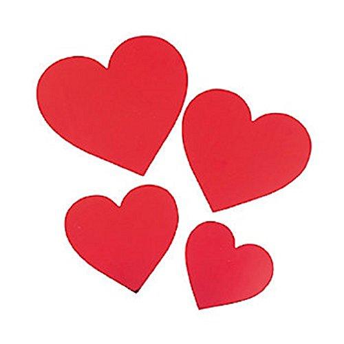 12 - Metallic Red Heart Cutouts - 4