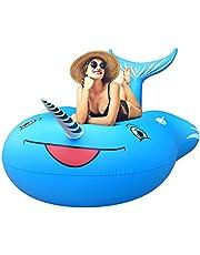 FEMOR Flotador Unicornio Gigante Hinchable Colchonetas Piscina Inflable para Playa Aire Libre Diversión para 1-2 Personas Niños y Adultos (270cm X 120cm X 140cm)