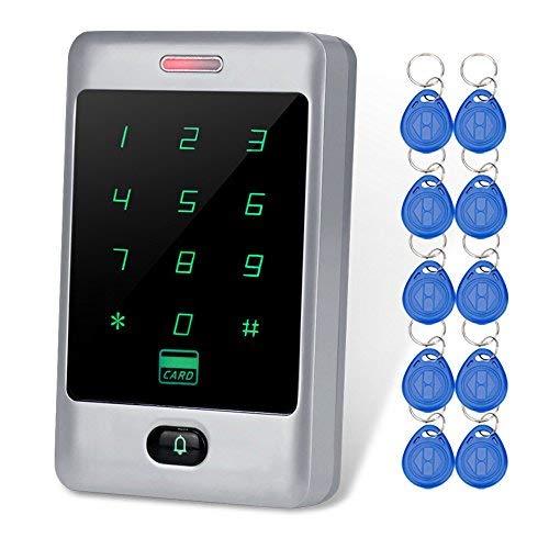 LIBO - Teclado RFID de control de acceso impermeable metálico, lector de tarjetas de salida Weigang 26/34, compatible con...