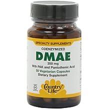 Country Life DMAE Caps -- 350 mg - 50 Vegetarian Capsules