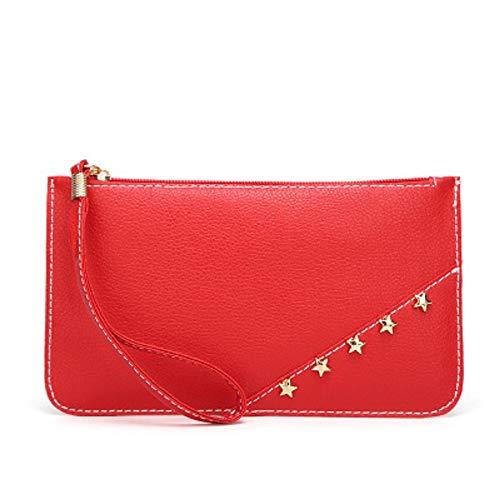 Shopper Rouge Petites Pentagram Main Main Dames ZHRUI à Sac Portefeuille Dames Sac Petit Noir Sac à qXxxZUn