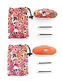 Set of 2 Gleener Mini Fabric Shaver & Lint Brush | Adjustable Clothes Shaver, Sweater Shaver & Lint Shaver (Be Bold/Orange)