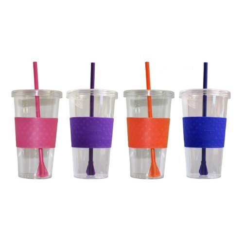 Copco Cold Beverage (Copco Sierra Cold Tumbler, 24-Ounce Capacity - Pack Of 4 (Hot Pink, Purple, Royal Blue & Orange))