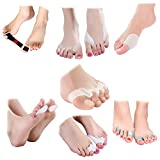 Fittest Pro Toe & Bunion Relief Package (Pack of 13) - Toe Straightener, Separator, Spreader, Corrector, Protector, Spacer & Stretcher - Bunion Night Splint, Shield, Support, Cushions, Bootie & Sleeve