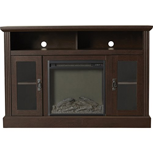 Cheap 50 Espresso TV Console With Fireplace Electric Fireplaces Flatscreen Stands And Cabinets Adjustable Shelving Cabinet Living Room NEW Black Friday & Cyber Monday 2019