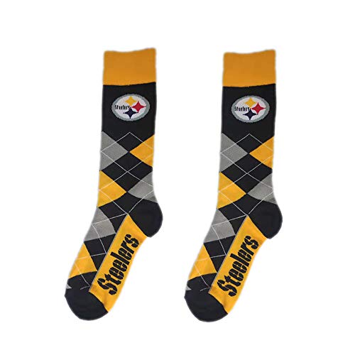(Gloral HIF Pittsburgh Steelers Argyle Unisex Crew Cut Socks - One Size Fits Most,Argyle)