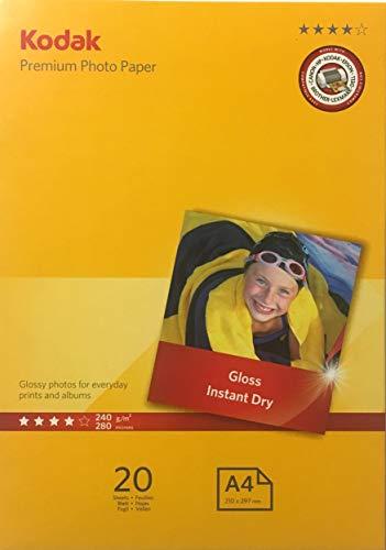 Kodak Inkjet Glossy Premiun Photo Paper A4 20 Sheets (11.7