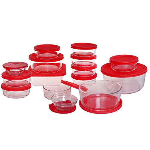 Anchor Hocking 13386AHG17 Company Food Storage Set 30PC Cherry