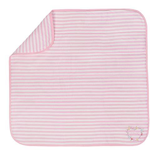 Gerber Organic 2-Ply Blanket, Pink Stripe, One Size