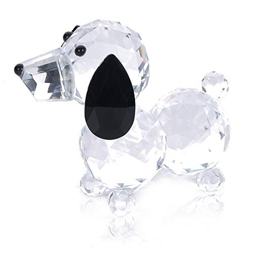 Dog Collectible Figurine (THREE FISH CRYSTAL Super Cute Crystal Dog Figurines Crystal Statue,Collection Cut Glass Decorative Statue Animal Collection,Crystal Dog Paperweight.(Crystal Dog))