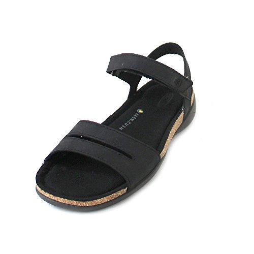 KEEN Women's Ana Cortez W Sandal, Black/Black, 10 M US by KEEN