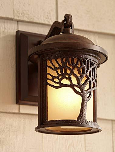 Rustic Outdoor Wall Light Fixture Bronze 9 1/2
