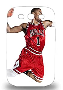 Galaxy S3 Cover Case Eco Friendly Packaging NBA Chicago Bulls Derrick Rose #1 ( Custom Picture iPhone 6, iPhone 6 PLUS, iPhone 5, iPhone 5S, iPhone 5C, iPhone 4, iPhone 4S,Galaxy S6,Galaxy S5,Galaxy S4,Galaxy S3,Note 3,iPad Mini-Mini 2,iPad Air )