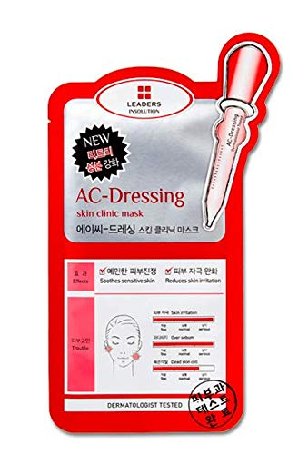 Leaders Clinic Ac-Dressing Skin Clinic Mask Skincare Moisturizing, 10 Piece ()