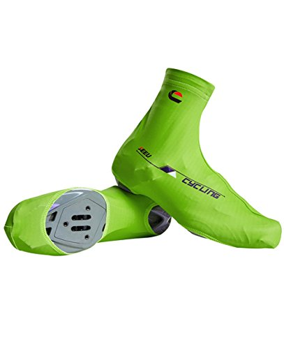 Fahrrad-Überschuhe - Männer Frauen Mountainbike-Überschuhe Winddicht Quick-Dry Anti-Rutsch-Zyklus-Schuh-Abdeckung Grün