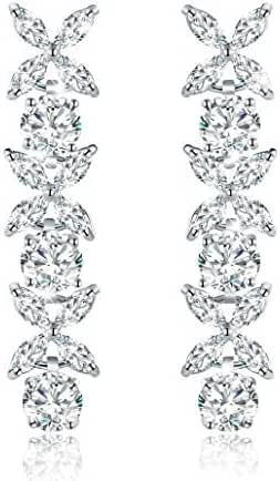 Incaton Crystal Earrings for Women 24K Golden Plated