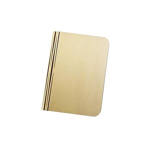 ERTO Lampara de Mesa Ebook Madera Plegable USB Flip Libro Noche ...