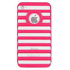 Solid Color 3D Staircase Style Hard Case with Back Chrome for iPhone 4/4S (Assorted Colors) --- COLOR:White