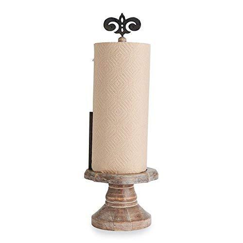 Mud Pie Fleur De Lis Pedestal Paper Towel Holder