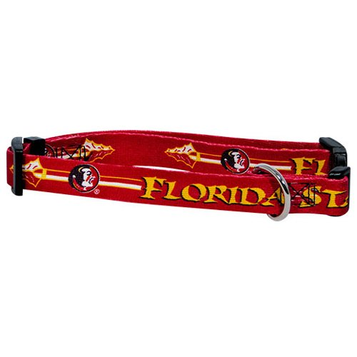Hunter Mfg. LLP NCAA Florida State Seminoles Adjustable Pet Collar, Large, Team Color