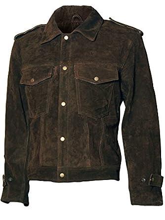 Beatles John Lennon Rubber Soul Men Brown Suede Leather Jacket at ...