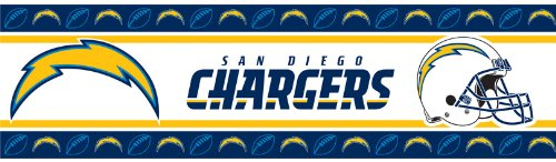 NFL San Diego Chargers Wall (Nfl Wall Border)