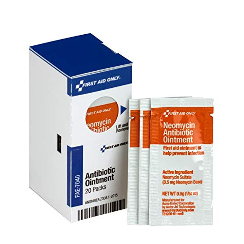 SmartCompliance Refill First Aid Antibiotic Cream, 20 Per Box| Emergency Kit Trauma Kits First Aid Cabinet Refill ()