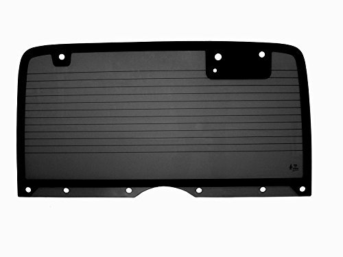 PPR Industries 30990090-95G Rear Glass Window With Defrost Gray Tinted For 1987-95 Jeep Wrangler Hardtop With 10 Holes